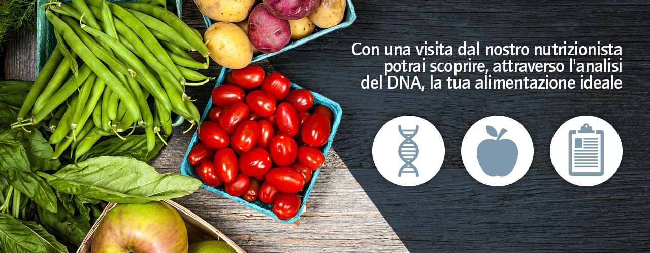 Nutrizionista con analisi del DNA